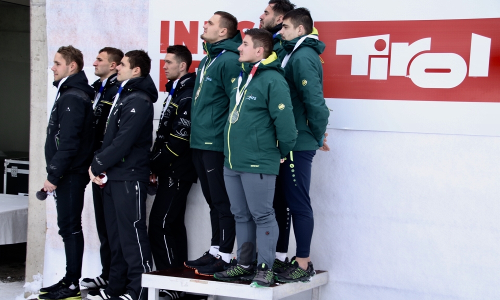 Junior European Championships U23 2019 4manBobsleigh podium