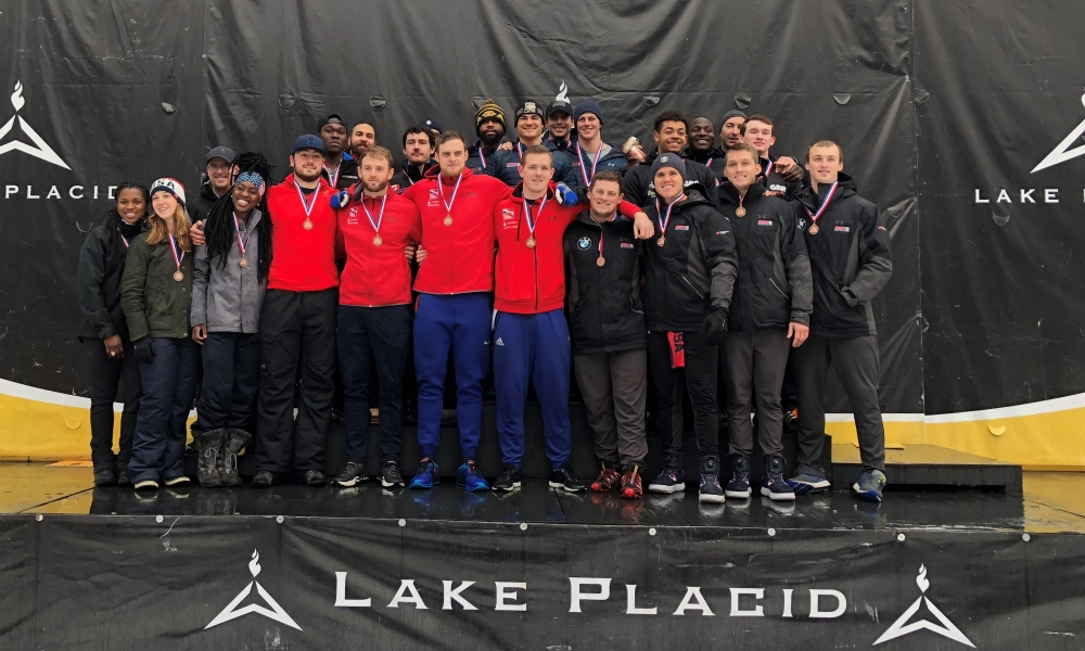 Chris Spring and Hunter Church win 4-man Bobsleigh races at Lake Placid NAC
