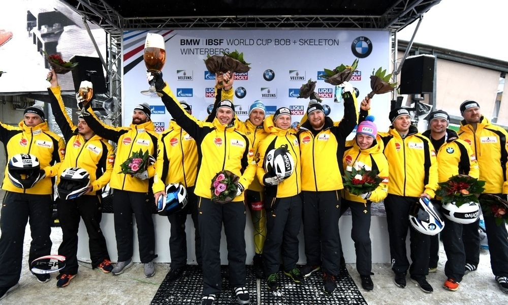 Olympic Champion Friedrich and gold medal crew take first 4-Man win of the winter