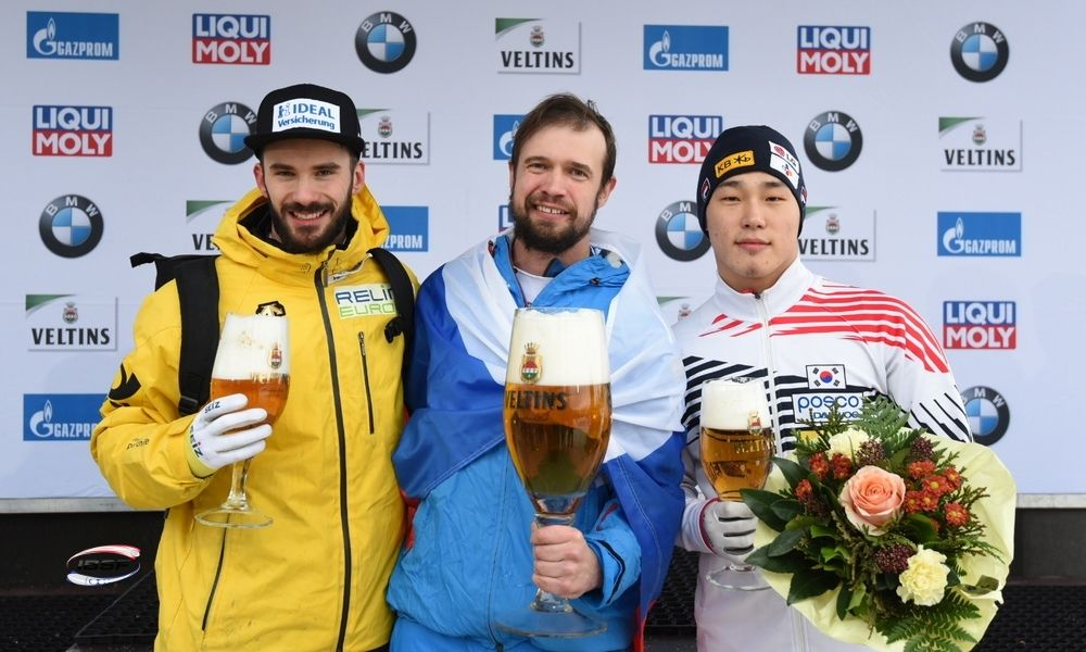 Alexander Tretiakov celebrates first World Cup victory in almost two years