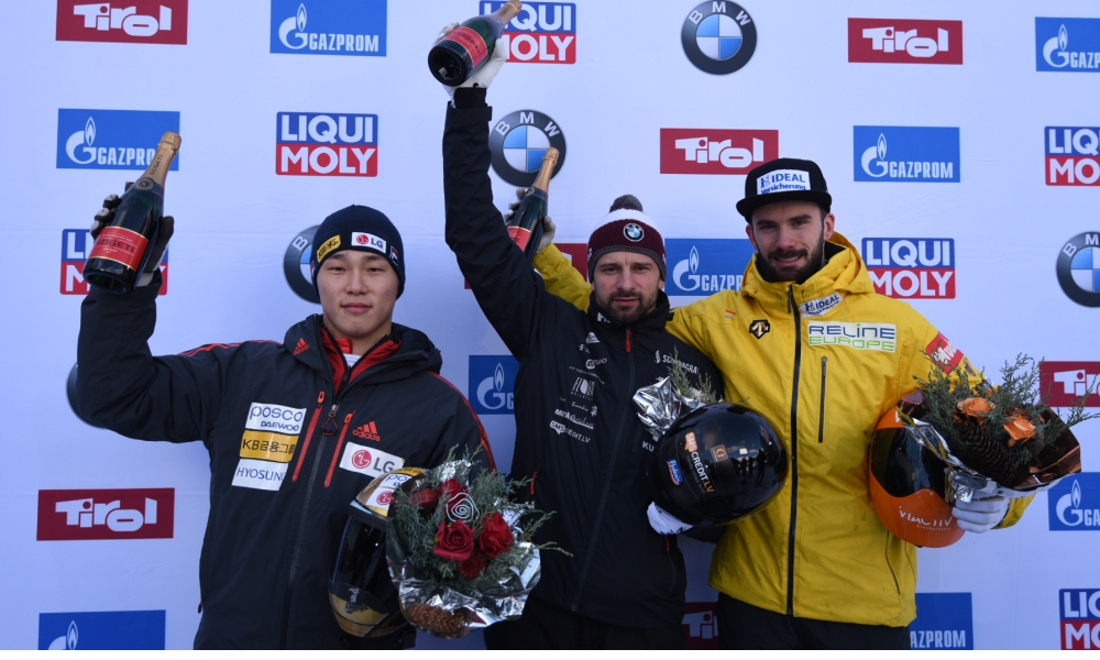 Martins Dukurs scores tenth European Championship title at BMW IBSF World Cup