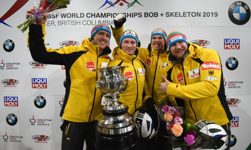 Olympic Champion Friedrich defends World Championship gold in 4-man bobsleigh