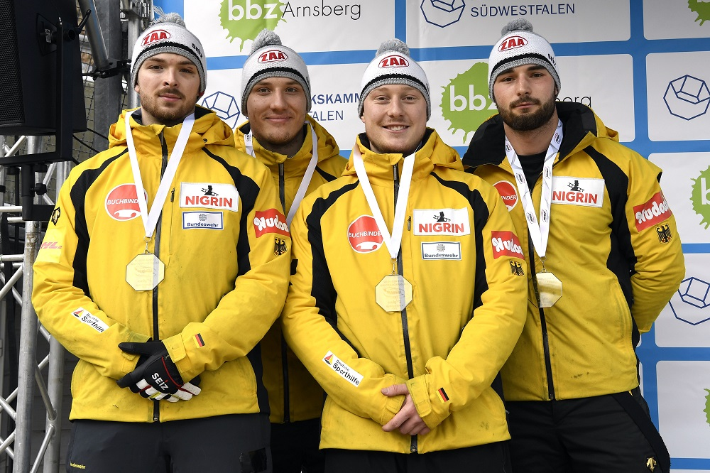TEAM HANNIGHOFER Hans Peter 4er Bob Junioren WCH Winterberg 2020 Feb 09 483 Dietmar Reker kl