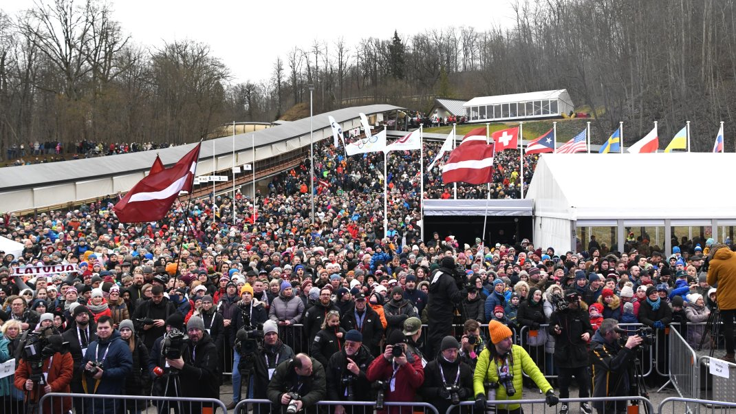 Sochi Medal reallocation Sigulda 2020 crowd kl