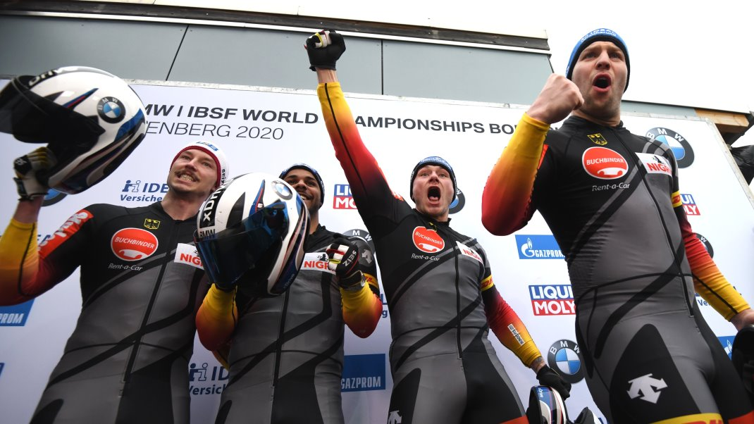 4 man Bob BMW IBSF World Championships 2020 Altenberg Team Walther