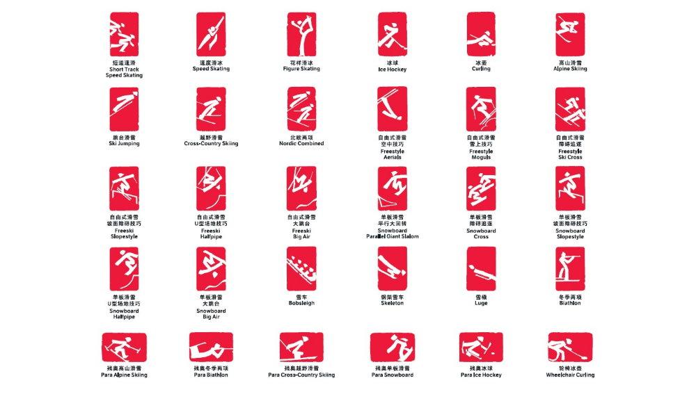 Beijing 2022 Veroffentlicht Sport Piktogramme Fur Olympische Und Paralympische Winterspiele