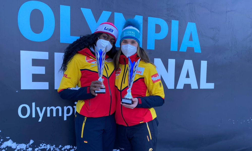 Olympic Champion Lisa Buckwitz celebrates first victory as a bobsleigh pilot