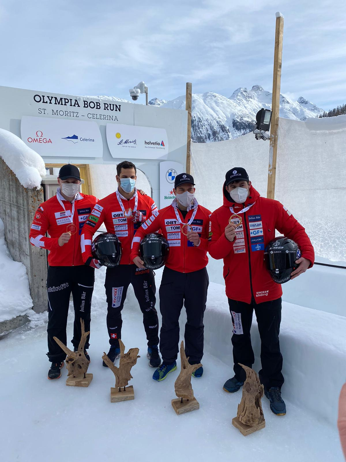 IBSF Junior World Championships 2021 4man Team Vogt 1