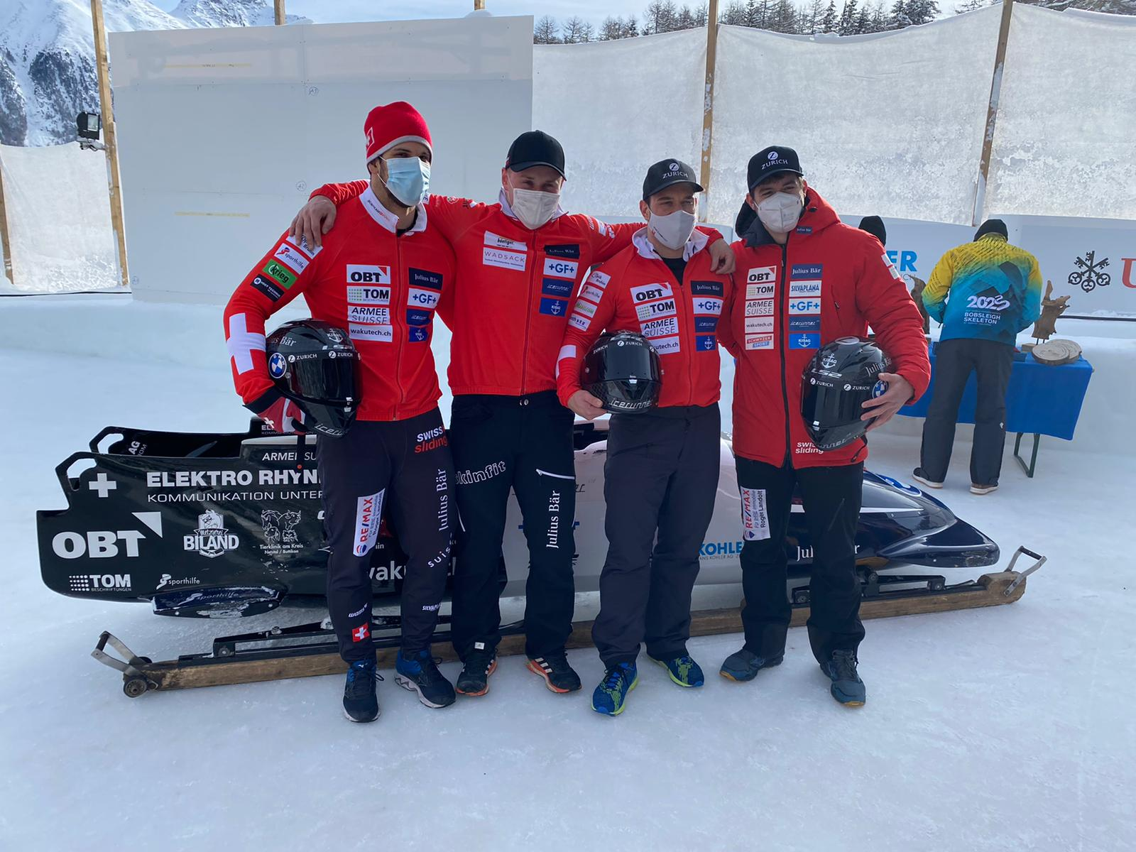 IBSF Junior World Championships 2021 4man Team Vogt 2