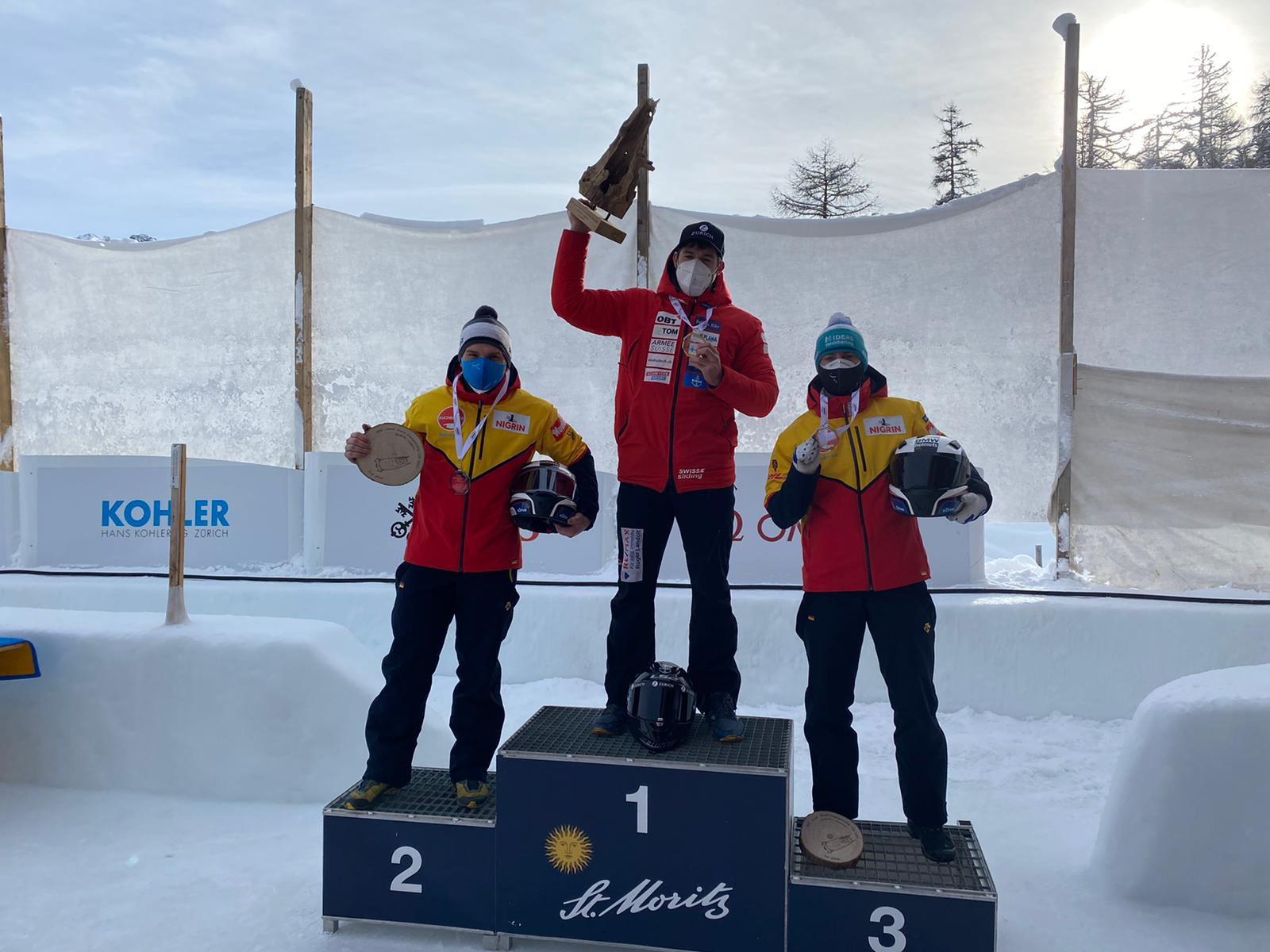 IBSF Junior World Championships 2021 4man podium