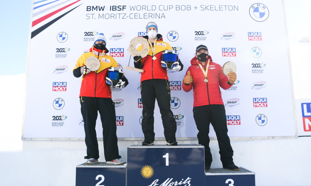 Friedrich with 2-man bobsleigh victory in St. Moritz now World Cup record winner