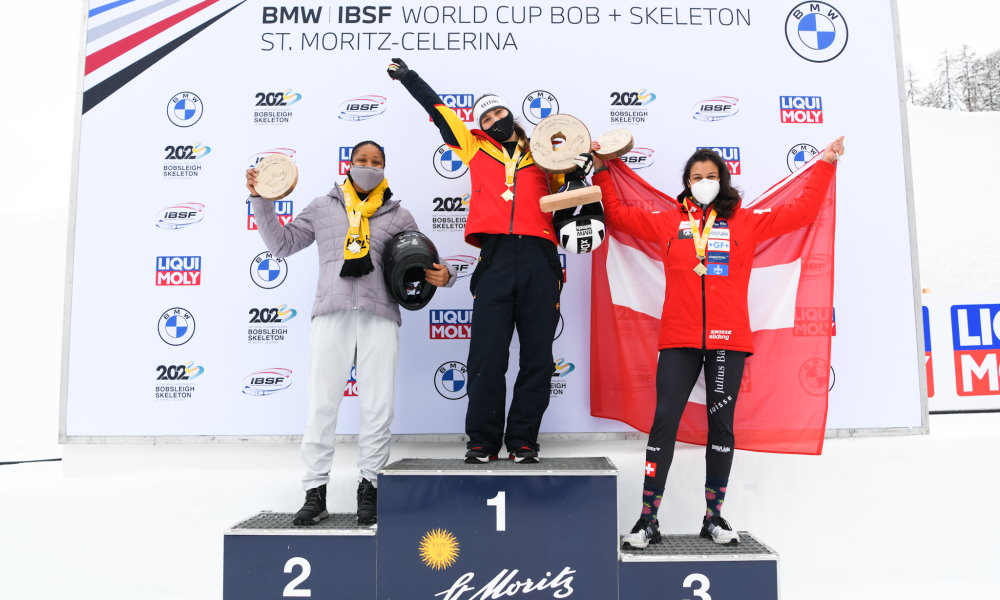 Defending Champion Stephanie Schneider with second World Cup season win in St. Moritz