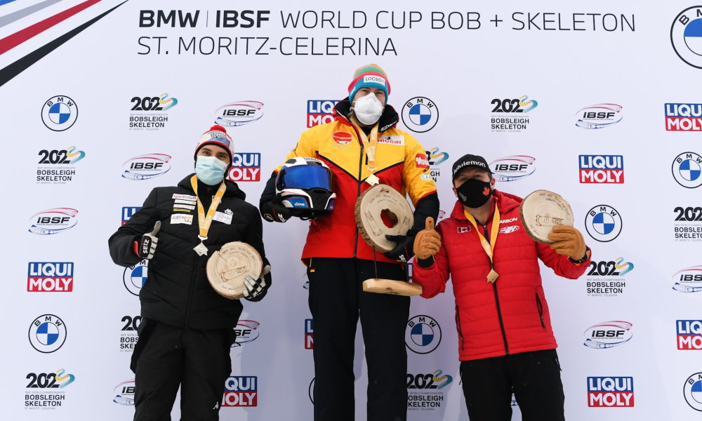 Friedrich wins 4-man Bobsleigh World Cup in St. Moritz with start and track record