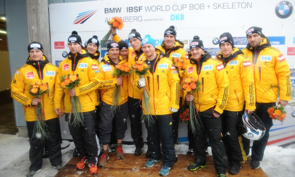 BMW IBSF World Cup Altenberg, winners four man bob