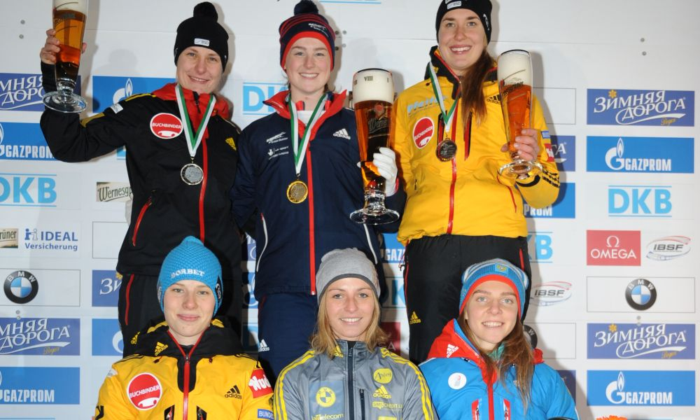 BMW IBSF World Cup Altenberg, winners skeleton women, Photo: Charlie Booker