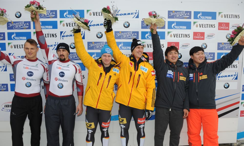 BMW IBSF World Cup Winterberg,winners  Two Man Bob, Photo: Charlie Booker