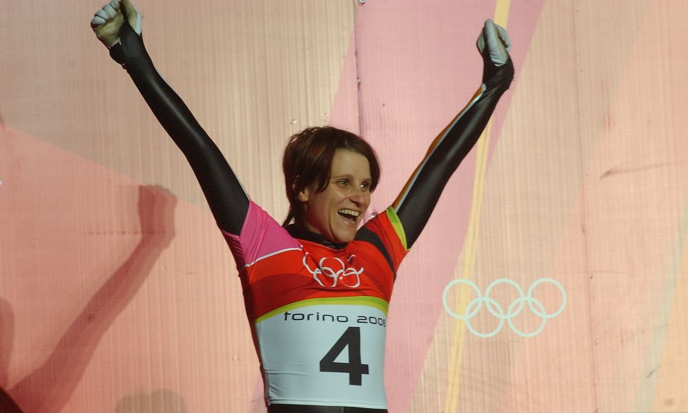 Maya Pedersen at 2006 Torino Olympics. Photo: Charlie Booker