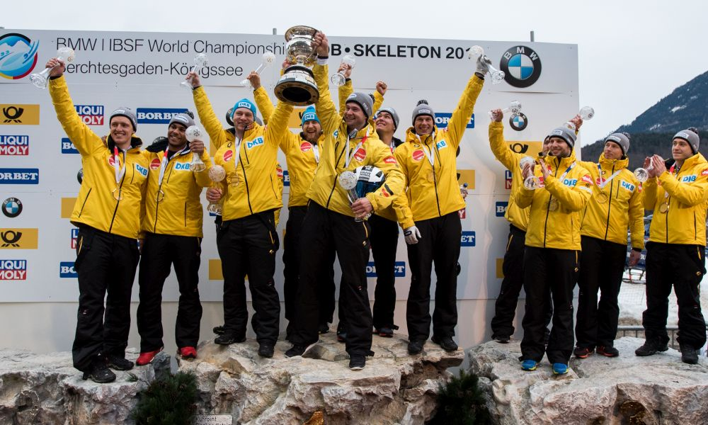 Podium 4Man BMW IBSF WCh 2017, Photo: Viesturs Lacis