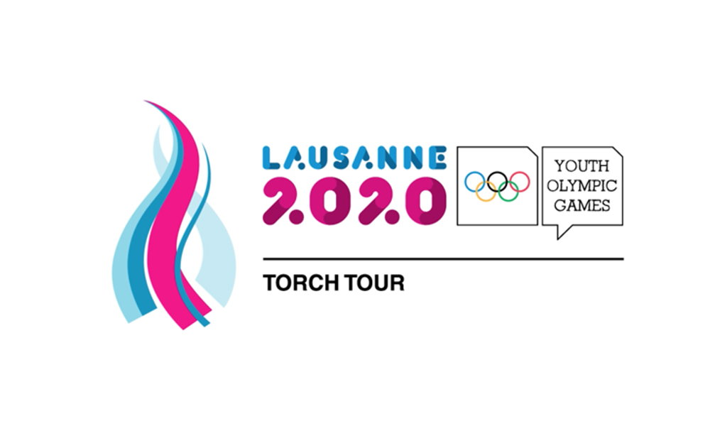 Logo Lausanne 2020 Torch Relay