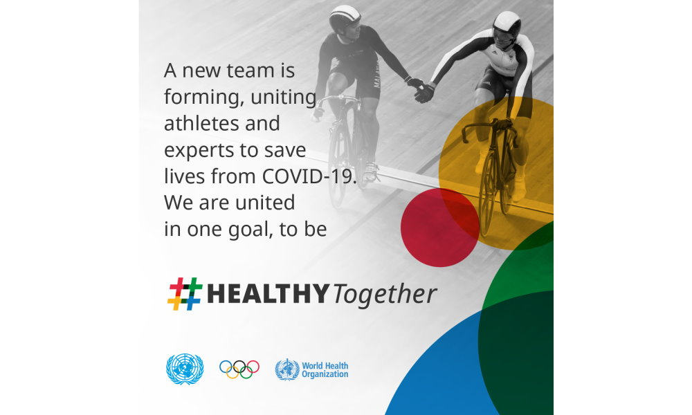#HEALTHYTogether: IOC, WHO and UN join forces with athletes to fight COVID-19 pandemic