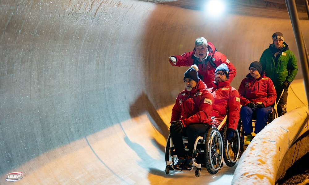 Para-Bobsleigh Team ITA; Photos: IBSF / Girts Kehris