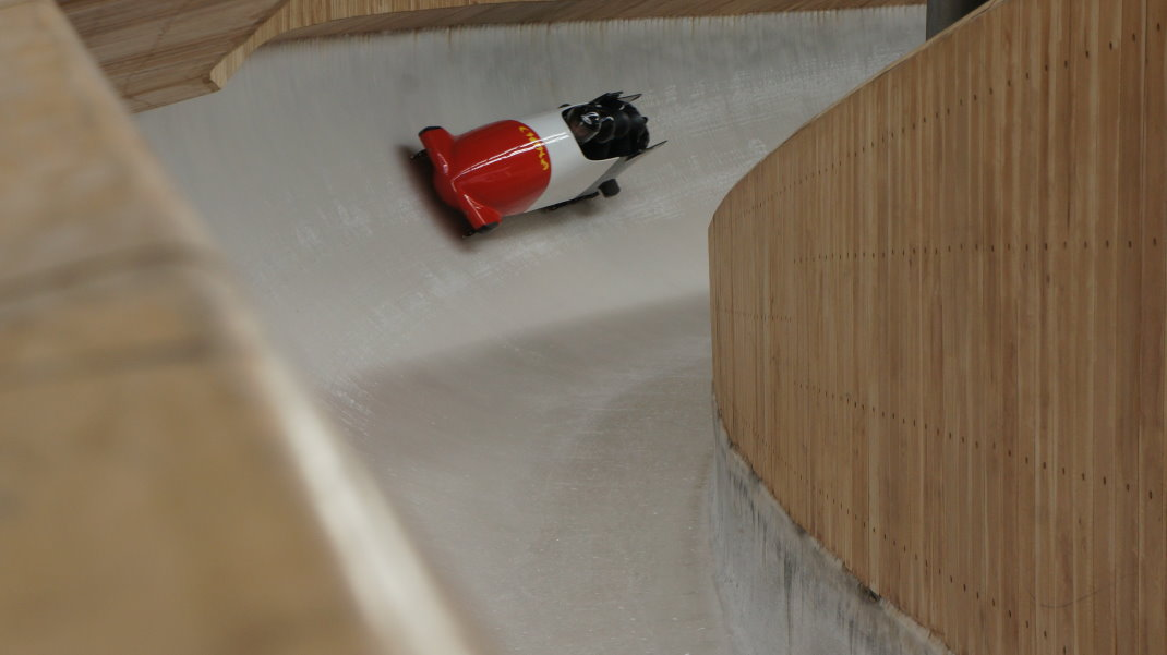 YanQing Sliding Center Oct 2020 test bobsleigh 1