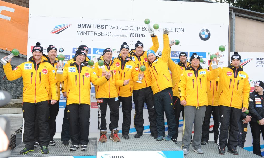 BMW IBSF World Cup Winterberg, winners four man bob, Photo: Charlie Booker